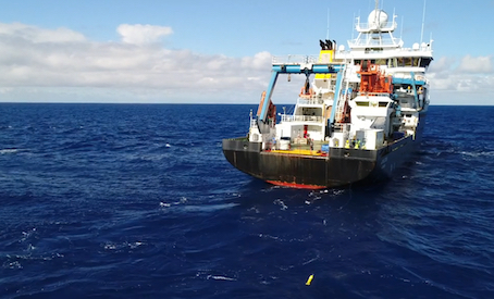 Argo float being deployed from RRS James Cook