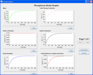 Phosphorus model results page.