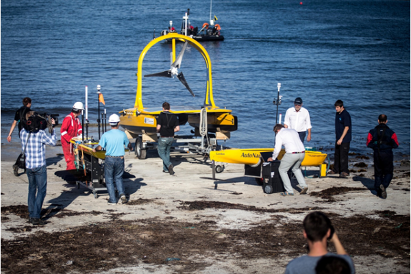 AutoNaut, C-Enduro and the SV3 Waveglider being launched