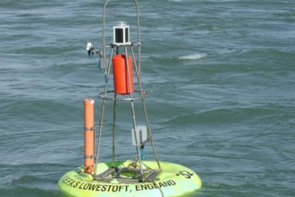 Cefas Smartbuoy which measures temperature, salinity, oxygen, nutrients, chlorophyll