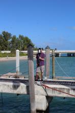 Testing Lockheed Martin XCP on dock of RSMAS (MerMEED 2016)