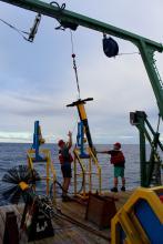 Deploying the VMP2000 on the R/V Walton Smith (MerMEED 2016)