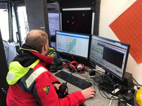 C2 being used to pilot Autosub Long Range