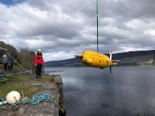 ALR being winched into Loch Ness